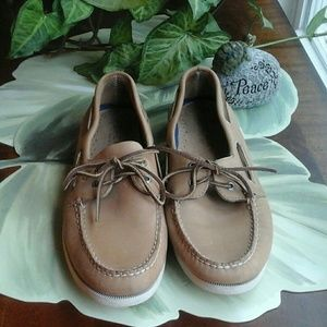 SPERRY TOP-TIER MEN'S TAN BOAT SHOES SIZE 12M